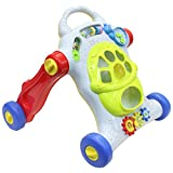 Baby Walker and Activity Center - Educational and Interactive Baby Toys - Battery Powered with Colorful Shapes Sounds and Lights For your Baby`s First Steps - Perfect Toys for 1 Year old Kids