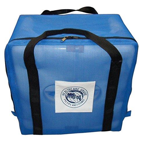 MJM International 118-3TW-KD-BAG W/ LOGO Standard Knocked Down Shower Chair with Carry Bag, 300 oz Capacity, 40.5