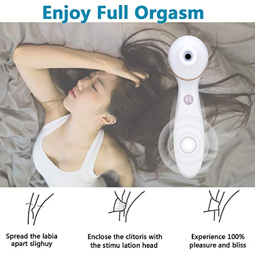 Clit Sucking Vibrator Dildo Sex Toy Personal Clitoral Stimulator G Spot with Suction & Vibration Orgasm for Women  by FClub-Toy (Image #6)
