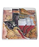 7 inch dough cutter - R&M International 1921 Texas Cookie Cutters, 4 State Shapes, Chili Pepper, Longhorn and Mini Star, 7-Piece Set