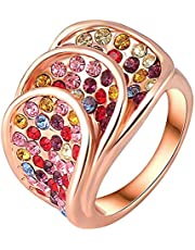 Three Stack Colorful Ring