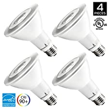 Hyperikon PAR30 LED Dimmable Bulb, 12W Flood Light Bulb, 65-75W Halogen Bulbs Equivalent, 920lm, 3000K (Soft White), 40 Degree Beam Angle, E26 Base, Recessed Lights, ENERGY STAR & UL - (Pack of 4)
