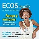 ECOS audio - Palabras basicas sobre electricidad. 9/2012: Spanisch lernen Audio - Grundwortschatz Elektrizität Hörbuch von  div. Gesprochen von:  div.