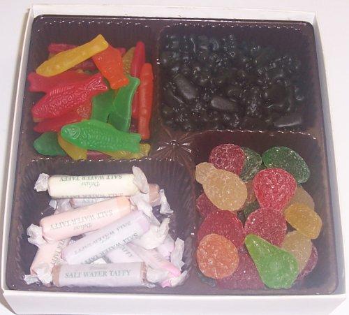 Scott's Cakes Large 4-Pack Pectin Fruit Gels, Swedish Fish & Black Licorice Bears & Salt Water Taffy
