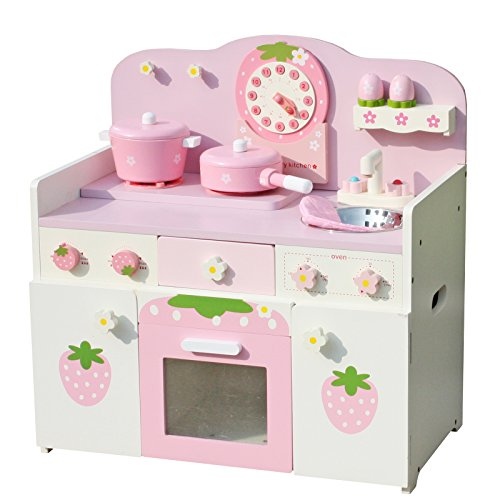 pretend play kitchen accessories timy wooden play kitchen strawberry playfully delicious 4400