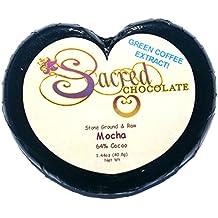 Sacred Chocolate MOCHA Maple Sweetened, Stone-Ground, Organic Vegan RAW Chocolate 68% Cacao 1.44oz Bar (12 Pack)