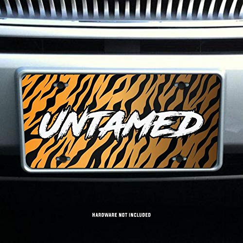 Untamed Tiger Stripes Printed Vanity Front License Plate Tag KCFP107 KCD