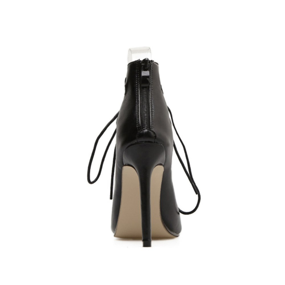 Frauen Sexy Roman Schuhe Strap Party Sandalen Gladiator Stiletto High Toe Heels Damen Peep Toe High Schuhe Club Hochzeit Strappy Pumps schwarz 0b1983