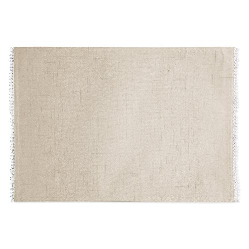 Lenox French Perle Solid Set of 4 Placemats, Natural Linen