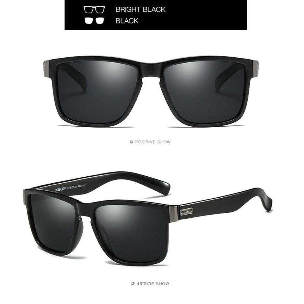 dd2c8ed8a7 Amazon.com  DUBERY Sunglasses Men s Polarized Sunglasses Outdoor Driving Men  Women Sport Frame Fishing Hunting Boating Glasses New (A)  Beauty