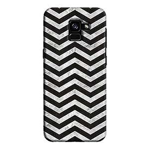 Cover It Up - Silver Black Tri Stripes Galaxy A5 2018 Hard case