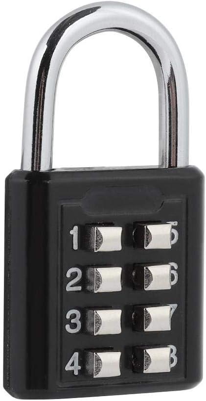 Mavis Laven Bloqueo de combinación de 8 dígitos Candado de Seguridad Bloqueo de contraseña para Equipaje de Viaje, gabinete, Puerta de Hierro, casillero, etc.