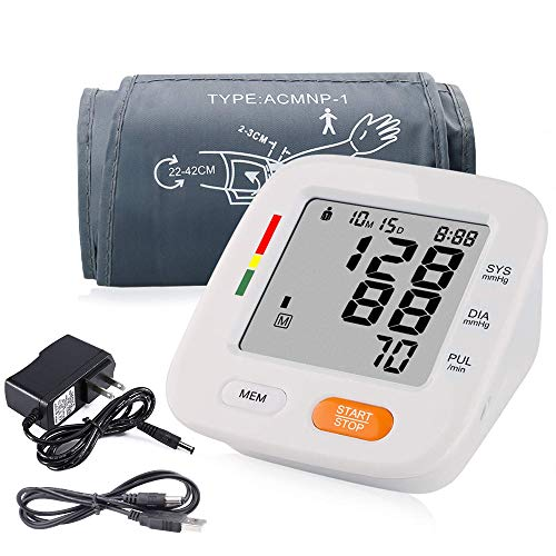 Blood Pressure Monitor Accurate Automatically Measure Pulse Diastolic Systolic Upper Arm Bp Machine for Home Use 2 User Mode with Large Cuff 8.7