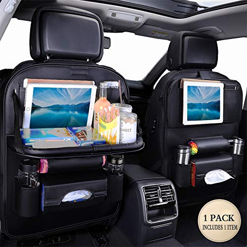 Jiadi Si Car Seat Protector + Backseat Organizer, Table Tray, Foldable Dining Table with iPad and Tablet Holder, Travel Accessories Organizer  (1 Pack)