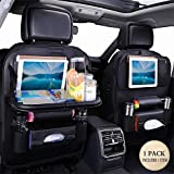 Kick Mats Back Seat Protector  Car Seat Protector + Backseat Organizer Table Tray for Baby Leather Foldable Dining With iPad and Tablet Holder, Durable Quality Seat Covers, Travel Accessories  (1 Pack.)