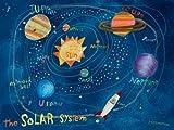 Oopsy Daisy Canvas Wall Art Solar System by Donna Ingemanson, 24 by 18-Inch