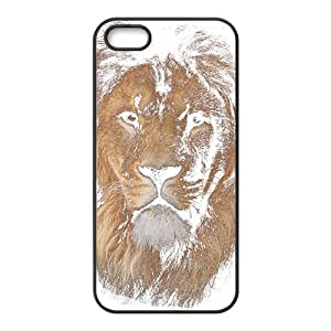 SANYISAN Artistic Lion Black iPhone 5S case