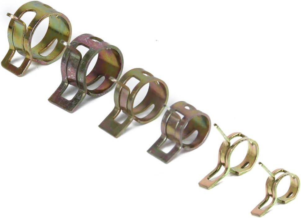 PETSOLA 40pcs 6mm Ressort Clip Tube Attache De Fixation Pour Tuyau De Gaz De Gaz De Carburant