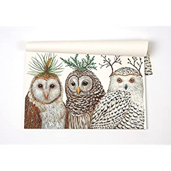 Winter Owls Paper Placemat Set 30 American Made