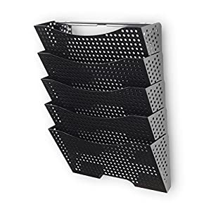 Amazon Com Wall File Holder Organizer Metal Modern