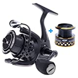 Skysper Spinning Reel 11BB 6.2:1 Left/Right Interchangeable Collapsible Handle Fishing Spinning Reel + Spare Spool