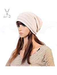 98636cbaef3 Men Women Thick Slouchy Knit Beanie Cap Hat Winter Warmming Cap