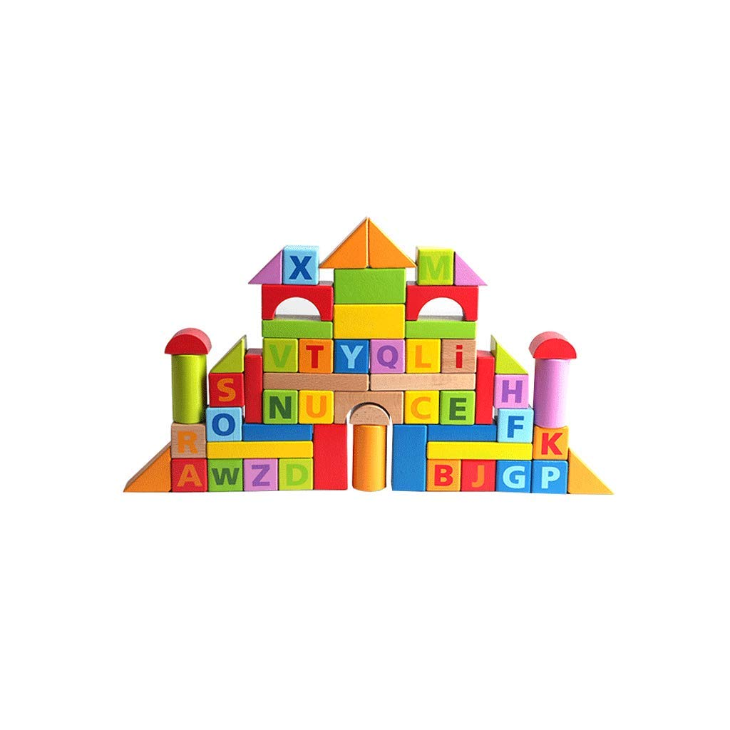 LIUFS-TOY Children's Toys Three-Dimensional Assembled Combination Blocks Wooden Puzzle Early Education (Size : 60 Capsules)