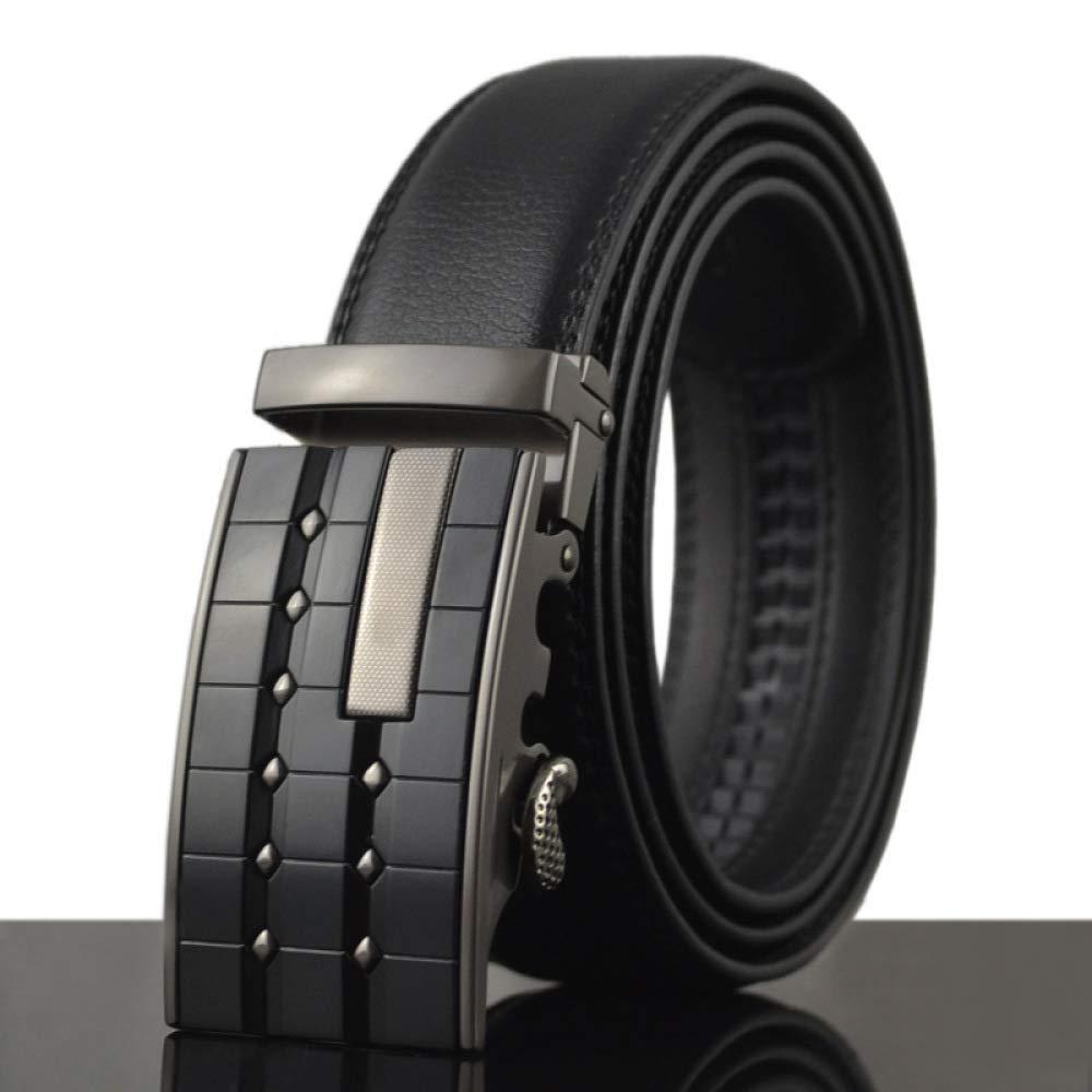 DENGDAI Mens Leather Belt Belt//Belt Length 100-135cm