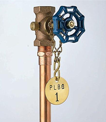 Brady 23308 50 Feet Brass 16 Jack Chain