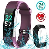 Flenco HR Fitness Tracker Watch Waterproof Activity Tracker Heart Rate Monitor iPhone Android