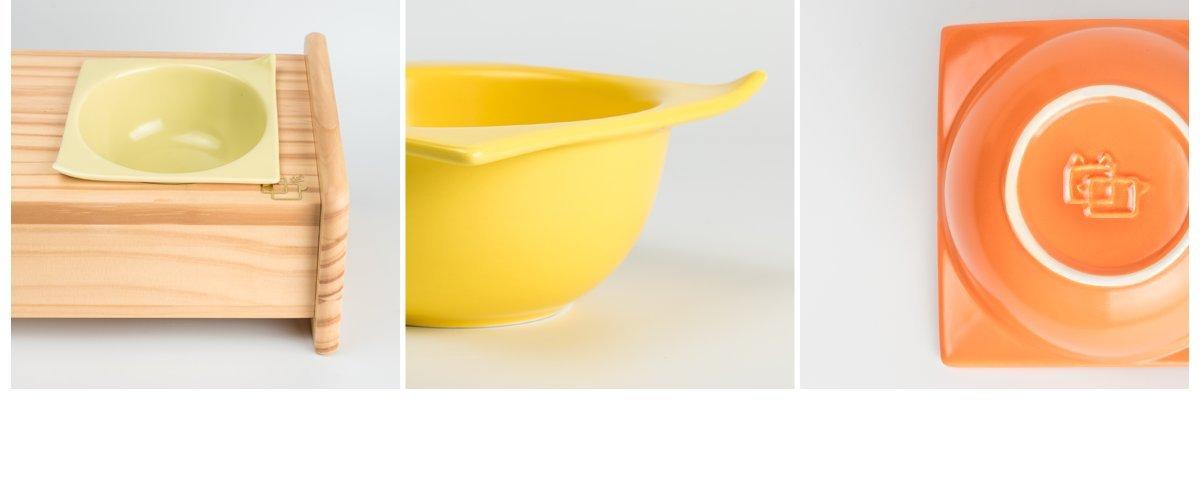 ViviPet 15° Tilted Platform Pet Feeder_ Solid Pine Stand with Ceramic Bowls for Dog and cat Under 20 lb. by ViviPet