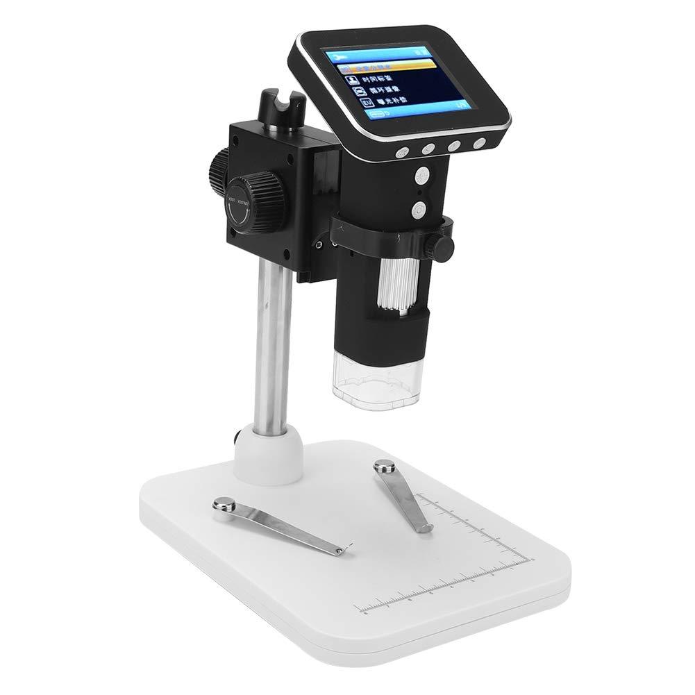 Akozon Microscopio Digitale Elettronico USB 500X 2 MP Magnifier 2,4 Magnifier Video LCD a Fornire Immagini Colori Statiche Chiare Video per Riparazione Scheda Madre del PCB