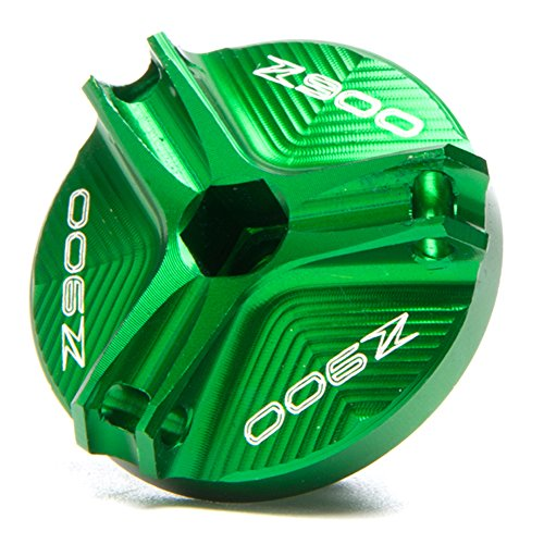 Green Motorcycle Accessories CNC Engine Magnetic Oil Drain Plug For Kawasaki Z900 2017