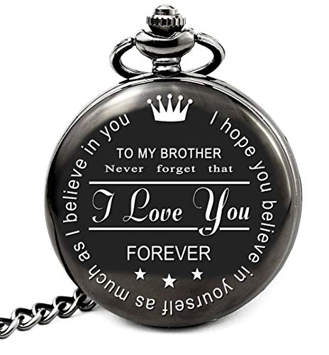 LEVONTA Brother Birthday Gifts from Sister or Brother, to My Brother Pocket Watch, Brother Gifts Ideas for Christmas Graduation (to Brother Roman) (Sister Older Gift Ideas Christmas For)