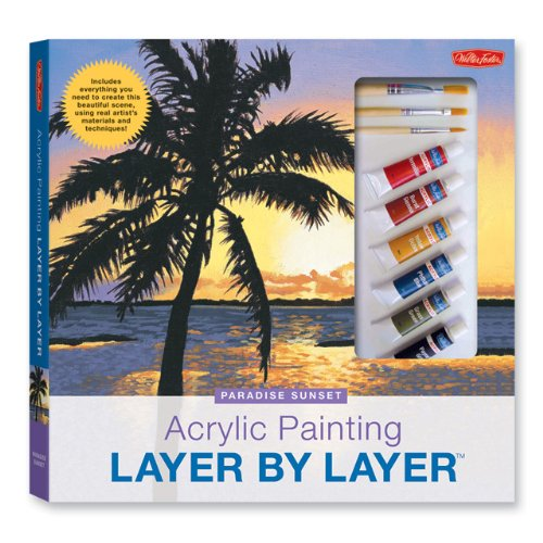 Acrylic Painting Layer by Layer: Paradise Sunset Kit