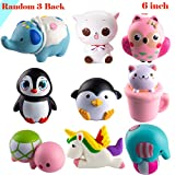 #6: WATINC Random 3 Pcs Jumbo Animal squishy Sweet Scented Vent Charms Slow Rising squishies Kawaii Kid Toy Pillow Toy, Lovely Stress Relief Toy, Animals Gift Fun Large