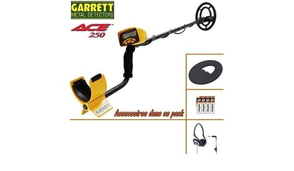 Garrett Ace 250 - Detector de metales, incluye protector de disco y auriculares con cable plegables: Amazon.es: Bricolaje y herramientas