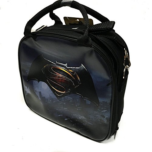 DC Comics Batman VS Superman Insulated Lunch Bag w/ Water Bottle (LOGO) at Gotham City Store
