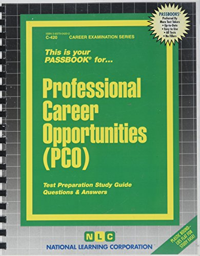 Pdf Test Preparation Passbook for Professional Career Opportunities (PCO)