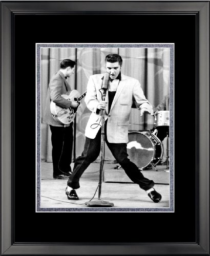 Legends Never Die Elvis Presley Microphone Double Matted Photo Frame, 16