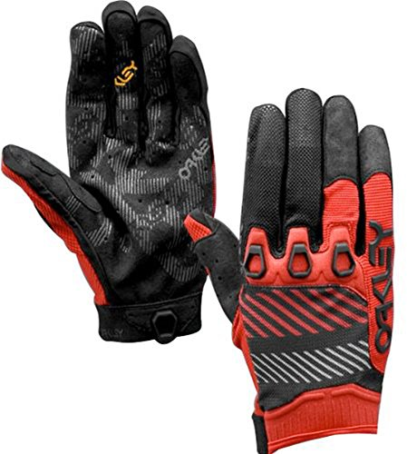 Oakley Mens Automatic 2 Off Road, Mountain Bike, BMX Gloves Medium Red Line