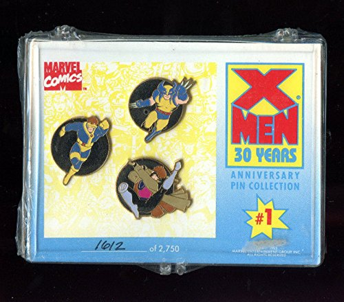 1993 Marvel Comics XMen X-Men 30 Years Anniversary Pin Collection #1 FACTORY from LovelyCrads
