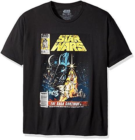 Mad Engine Men's Saga Continues T-Shirt, Black, 2X - Back Music Light T-shirt