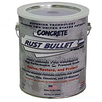 Rust Bullet Rbcong Metallic Gray Protective Floor Coating