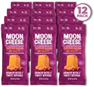Moon Cheese Cheddar Bacon Me Crazy, 100% Bacon Cheddar Cheese Snacks, Crunchy Keto Food, Low Carb, High Protein, 1 oz (12 pa