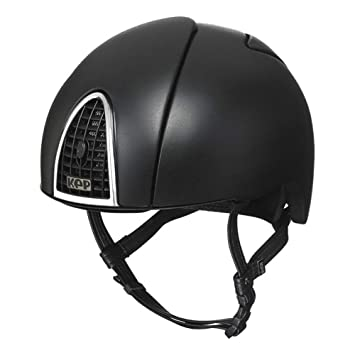 KEP Cromo Jockey - Gorro de equitación (60 cm), color negro
