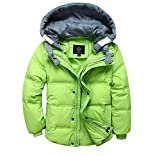 Koo-T Boys Winter Coat/Gilet 2 Way Casual Hood Duck Down Trendy Long Age Size (5-6 Years (120), Light Green)