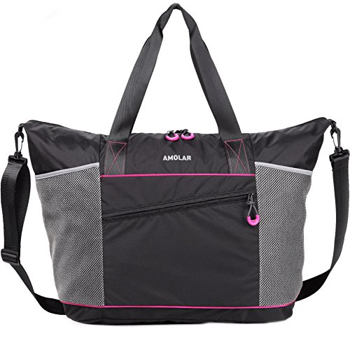 Gym Tote Bag for Women with Rommy Pockets, Beach Tote Bag, Sports Carry All Tote Bag
