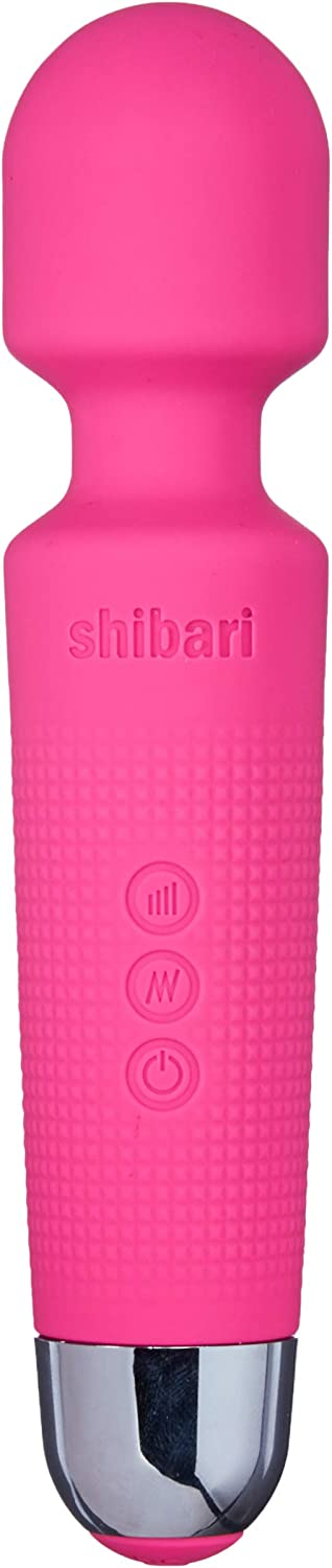 SHIBARI Mini Halo,The Original Compact Power Wand Massager, Wireless, 20x Multi-Speed Vibrations (Pink)