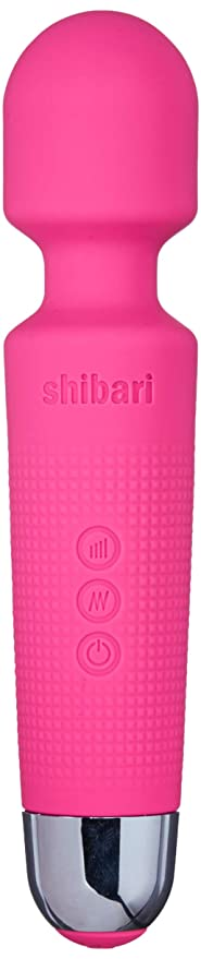 Shibari Mini Halo 'The Original' Compact Power Wand Massager Wireless 20x Multi-speed Vibrations Pink